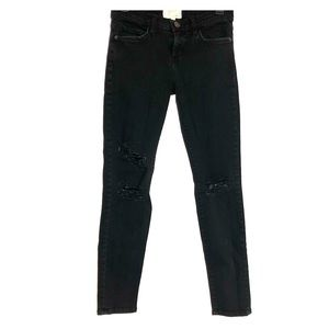 Current/Elliott Jet Black Destroy Size 26 Women